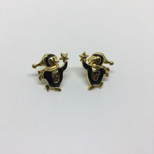 Avon penguin stud earrings festive animal holiday